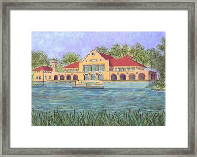 Washington Park Lakehouse Framed Print by David Hinchen