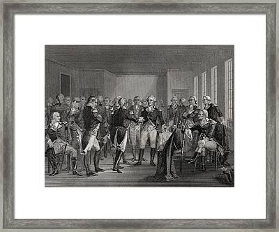 Washington Parting From His Officers At Framed Print