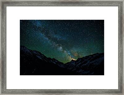 Washington Pass Overlook Milky Way Framed Print by Pelo Blanco Photo