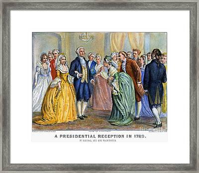 Washington Reception, 1789 Framed Print by Granger
