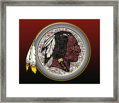 Washington Redskins Framed Print by Fairchild Art Studio