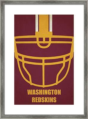 Washington Redskins Helmet Art Framed Print