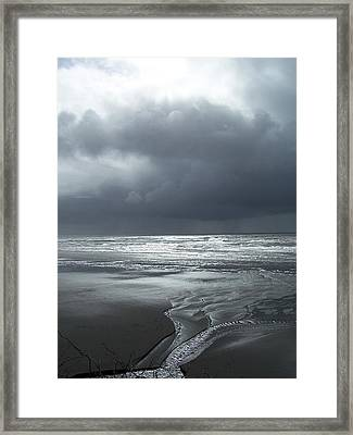 Washington Shore Framed Print by Gene Ritchhart