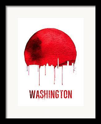Washington D.c Digital Art Framed Prints
