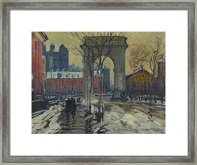 Washington Square Framed Print by Arthur Clifton Goodwin