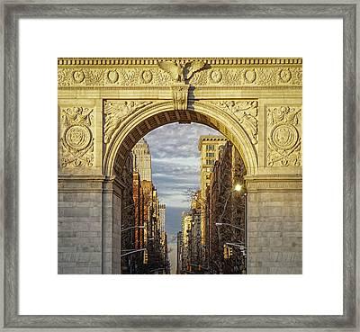 Washington Square Golden Arch Framed Print