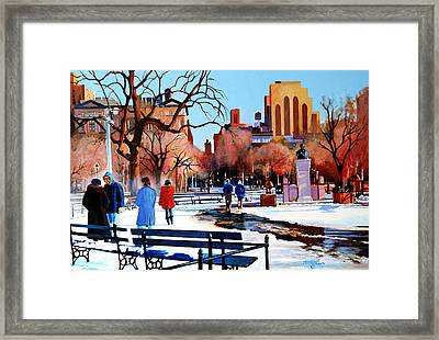 Washington Square Framed Print by John Tartaglione