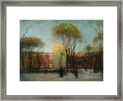 Washington Square New York Framed Print