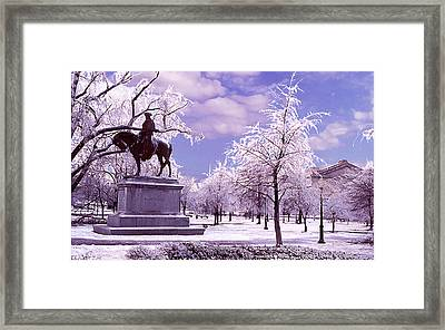 Framed Print featuring the photograph Washington Square Park by Steve Karol