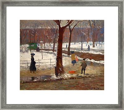 Washington Square Winter Framed Print