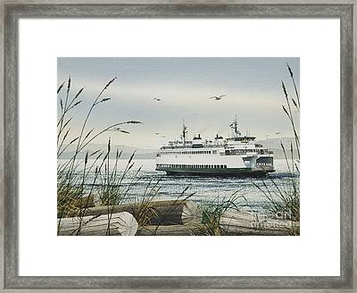 Washington State Ferry Framed Print by James Williamson