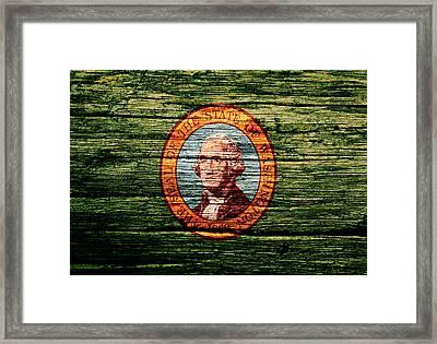 Washington State Flag 1w Framed Print