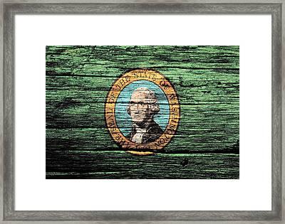 Washington State Flag 2w Framed Print