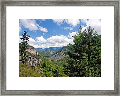 Washington State Vista On Us Hwy 12 - Nr 1 Framed Print by Stephen Bonrepos