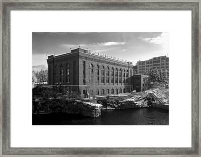 Washington Water Power Post Street Station - Spokane Washington Framed Print by Daniel Hagerman