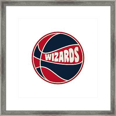 Washington Wizards Retro Shirt Framed Print