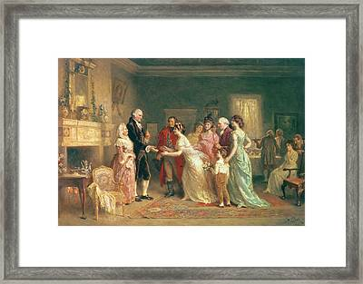 Washingtons Birthday Framed Print by Jean Leon Jerome Ferris