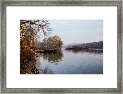 Washington's Crossing - Re-enactment Boats Framed Print by Bill Cannon
