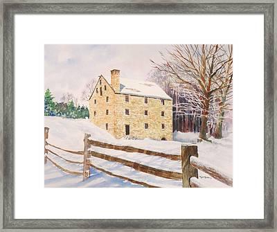Washington's Grist Mill Framed Print by Tom Harris