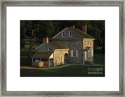 Washington's Headquarters At Valley Forge Framed Print by Cindy Manero