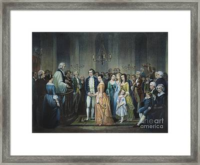 Washingtons Marriage Framed Print