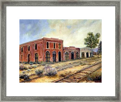 Washoe City Nevada Framed Print by Evelyne Boynton Grierson
