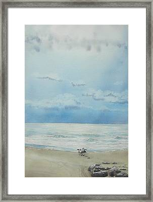 Washout Lull Framed Print