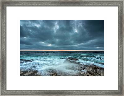 Washover Framed Print by Peter Tellone