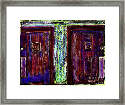 Washrooms Are This Way Framed Print