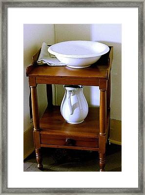 Washstand Framed Print