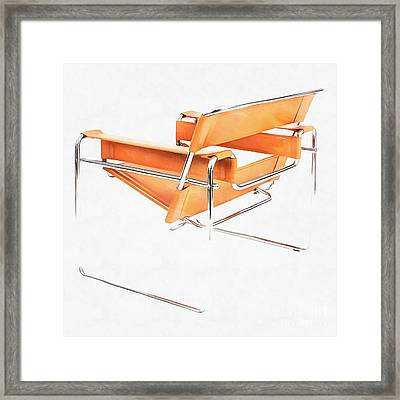 Wassily Chair Mid-century Modern Framed Print