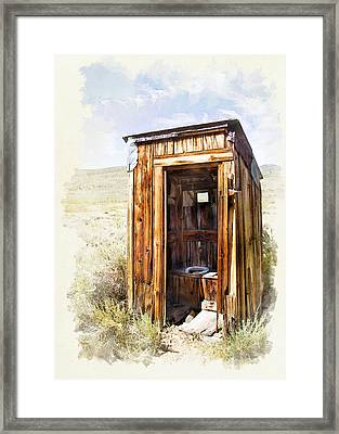 Waste In A Way - Watercolor Framed Print