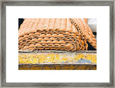 Waste Underlay Framed Print by Tom Gowanlock