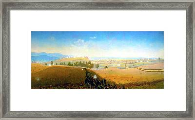 Wasted Gallantry Antietam - 7th Maine Infantry Framed Print