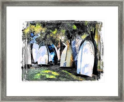 Framed Print featuring the photograph Wat-0008 Boat Hire by Digital Oil