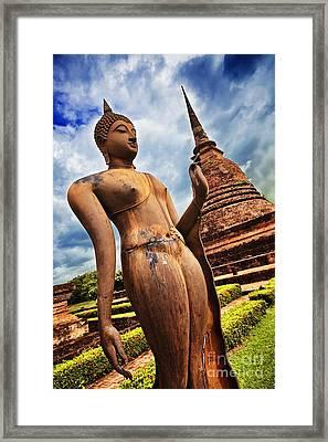 Wat Sra Sri In Sukhothai Thailand Southeast Asia Framed Print