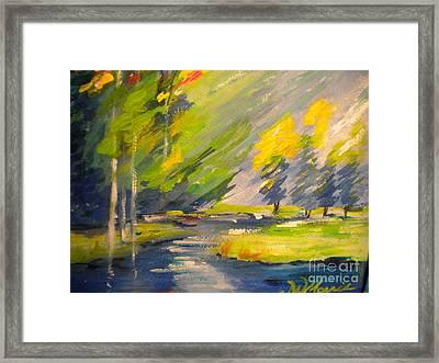 Watauga River View Framed Print