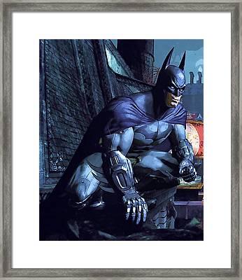Watch Batman Poster Framed Print by Egor Vysockiy