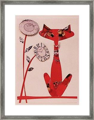 Watch-cat Framed Print