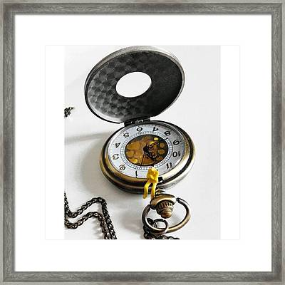 #watch #clock #time #vintage #steampunk Framed Print
