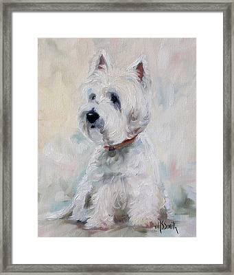 Watch Dog Framed Print by Mary Sparrow