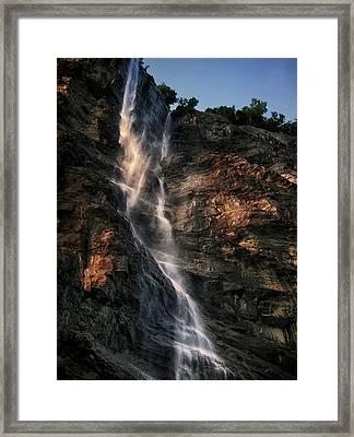Geirangerfjord Waterfall Framed Print by Jim Hill