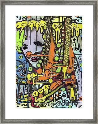 Watch Her Strut Framed Print
