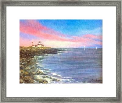 Watch Hill Light House Framed Print
