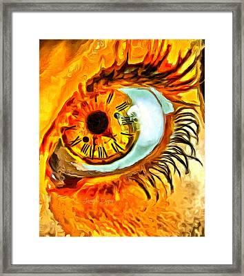 Watch Framed Print by Leonardo Digenio