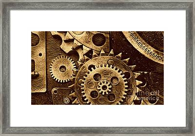 Watch Machinery II Framed Print by Victor Arriaga