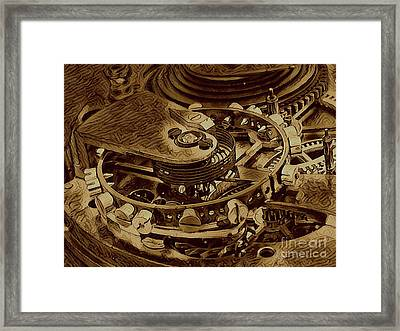 Watch Machinery IIi Framed Print by Victor Arriaga