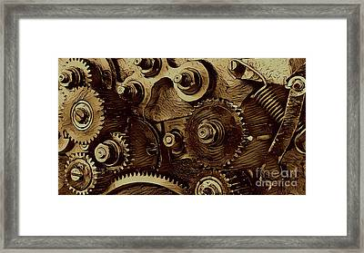 Watch Machinery Framed Print by Victor Arriaga