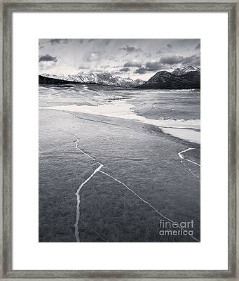 Watch Out For The Black Ice Framed Print by Royce Howland