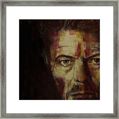 Watch That Man Bowie Framed Print